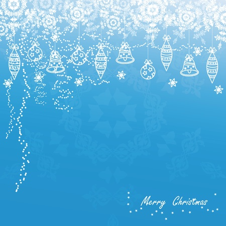 Blue and white modern christmas card Vector
