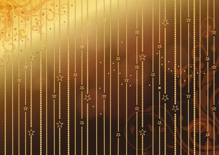 gold christmas background: Elegant and gold christmas background