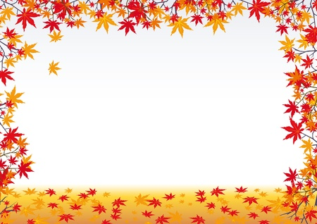 Colorful fall background with leaf Illustration