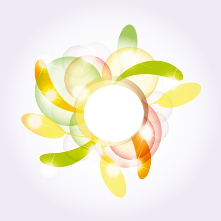 floral decoration: Colorful and modern fall background  Illustration