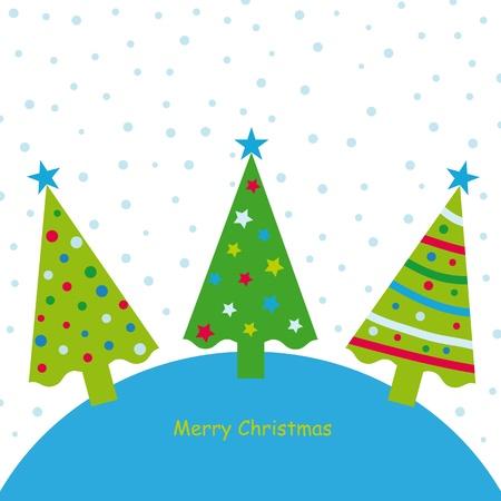 Weihnachten Hintergrund mit Sternen und Tannenbaum Standard-Bild - 10697801