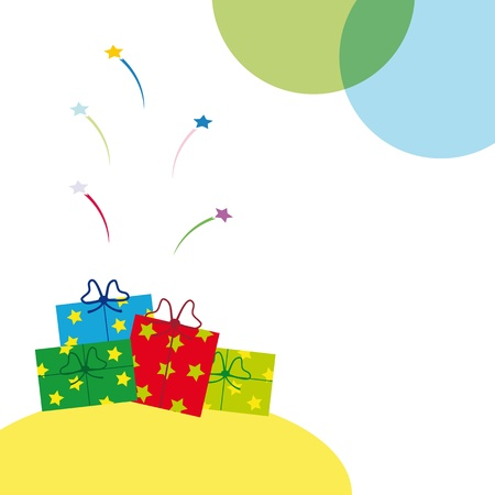 Christmas, New Year or birthday  background Stock Vector - 10697802