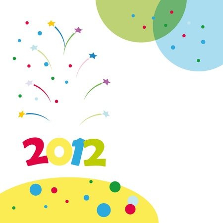 Colorful background on New Year 2012 Vector