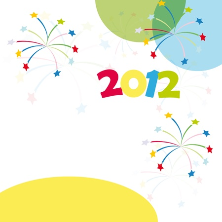 Colorful background on New Year 2012 Stock Vector - 10697804