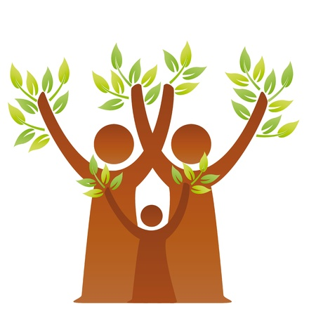 A pictographic image of a green family Stock Vector - 10875989