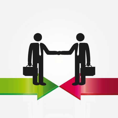 meet up: Business meeting two important persons - abstarct concept Illustration