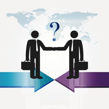 conversaciones: Reunión de negocios a dos personas importantes - concepto Abstarct