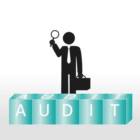 Abstracte scène tonen personto voeren audit