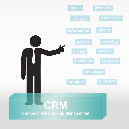 figure explain CRM concept- concept abstract background Vector