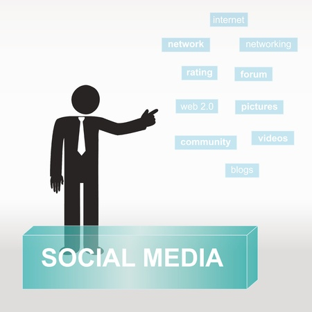 figure explain social media concept- concept abstract background Vector