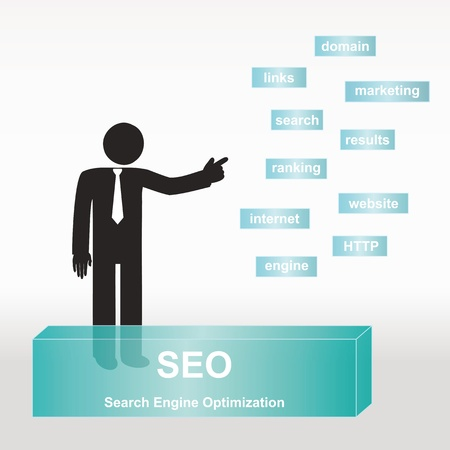 seach: figure explain SEO concept- concept abstract background