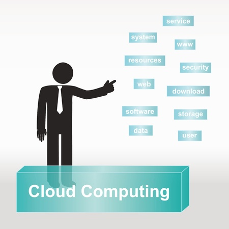 figure explain cloud computing concept- concept abstract background Vector