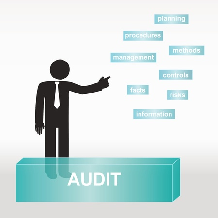 figure explain audit concept- concept abstract background Vector