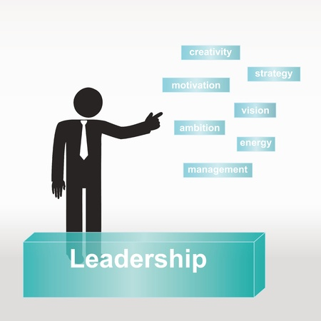figure explain leadership concept- concept abstract background Vector