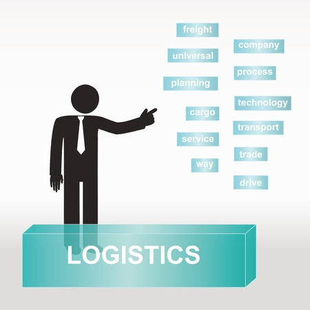 figure explain logistics concept- concept abstract background Vector