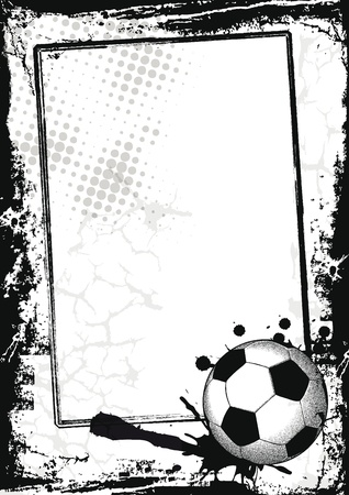 Grunge sport background with football, abstract background Vector