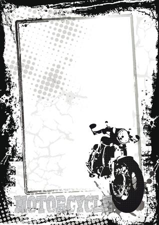 Grunge Hintergrund mit Sport-Motor, abstrakten Hintergrund Illustration