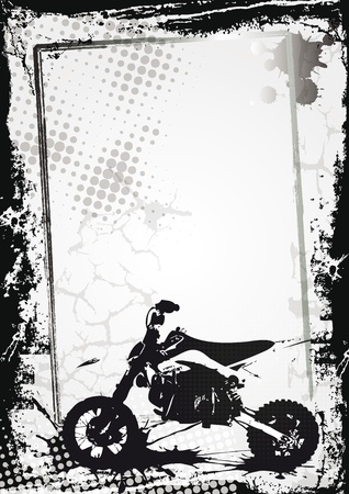 Grunge sport background with motor, abstract background Vector