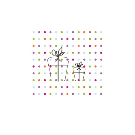 Occasion card with colorful dots and black presents Stock Vector - 11384252