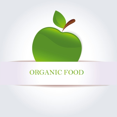 Green apple as organic food symbol Stock Vector - 11384258