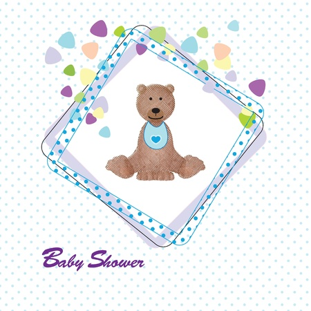 Colorful and cute baby card on shower or birthday Vector