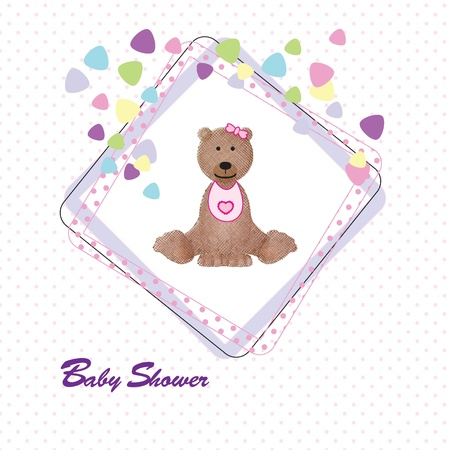 ocassion: Cute and colorful baby invitation on shower