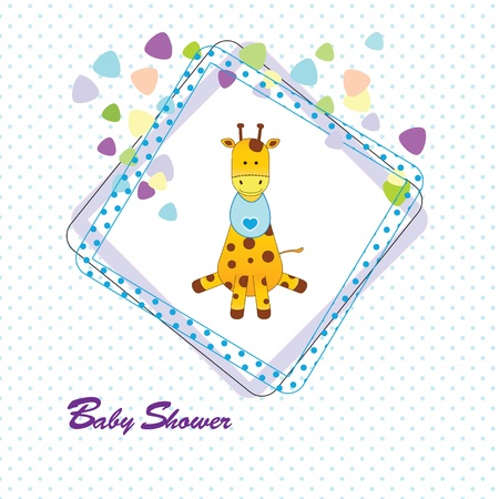welcome baby: Cute and colorful baby invitation on baby shower