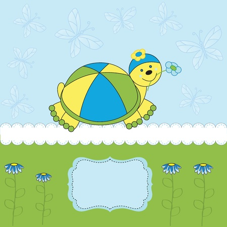 Cute greeting card on special day - birthday or shower Vector