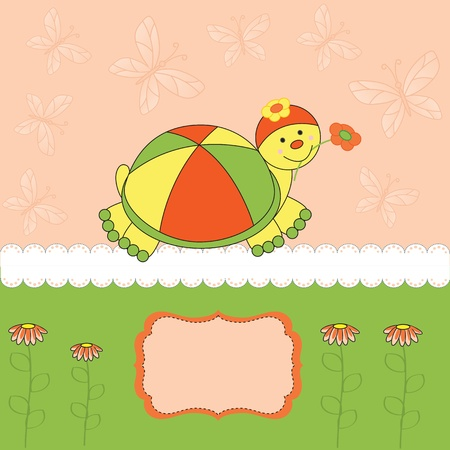 ocassion: Colorful baby invitation on birthday or shower Illustration