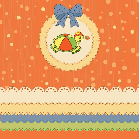 Colorful baby card on birthday or shower Vector