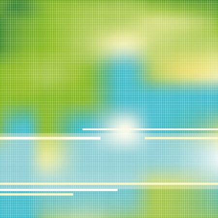 environmentally friendly: Green and blue light background Illustration