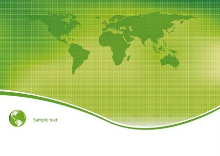 calentamiento global: Luz verde y ecol�gica de fondo Vectores