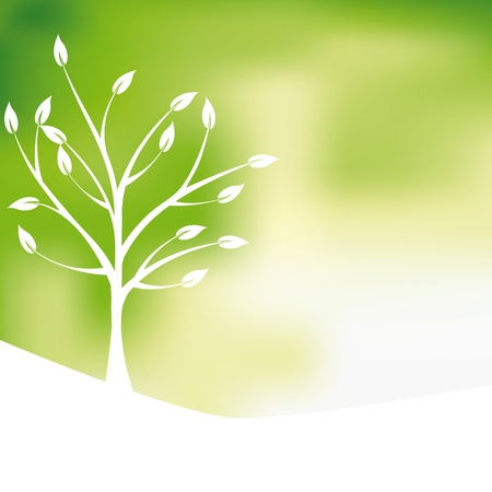 recycler: Fond vert de conception d'arbre, r�sum�
