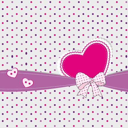 lovely girl: Abstract kids background with heart