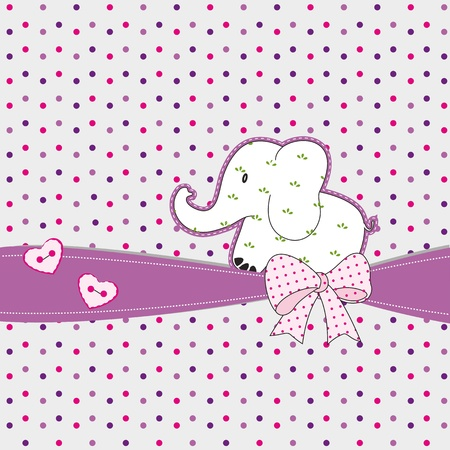 Cute card on special day with elephant Vector