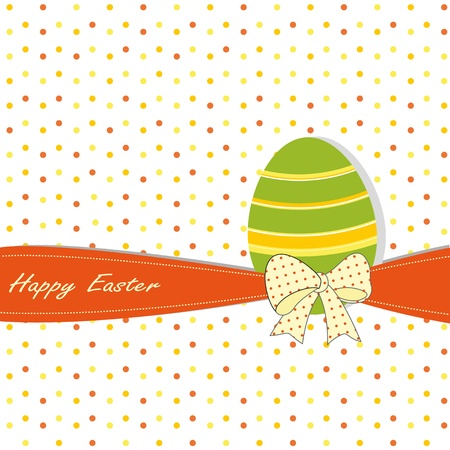 Easter colorful card with egg Stock Vector - 11897663