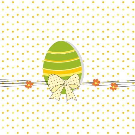 Easter colorful card with egg Vector