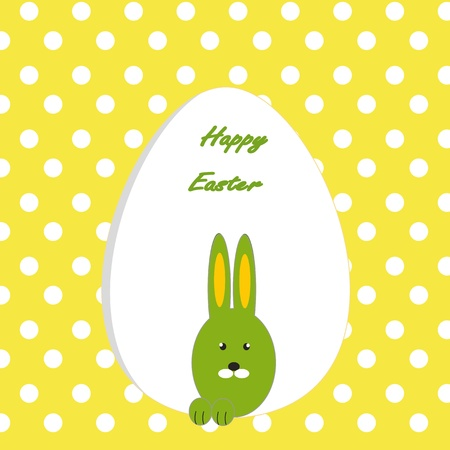 Easter colorful card with rabbit Vector