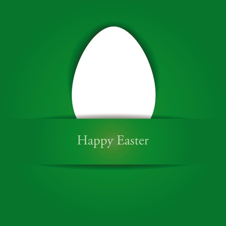 Green and white easter card Vector