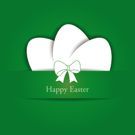 Green and white easter card with eggs Stock Vector - 12293078