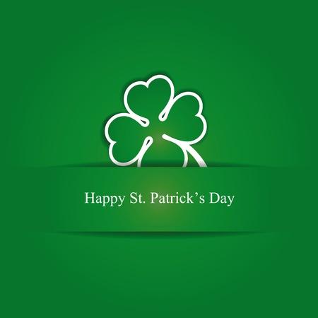 patricks day: Tarjeta linda con el tr�bol de cuatro hojas sobre st. D�a de Patrick