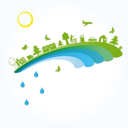 desarrollo sustentable: Concepto de ecología se puede utilizar en el Día de la Tierra