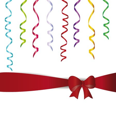 Many colorful streamer on birthday party for example Vector