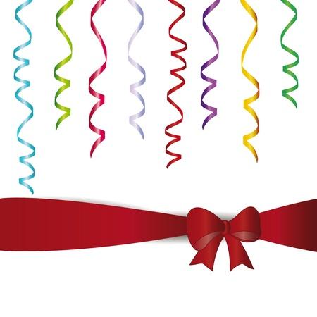 serpentinas: Streamer Muchos de colores en la fiesta de cumpleaños, por ejemplo, Vectores