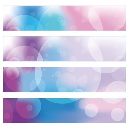 Blue and violet modern banners with circles Vector