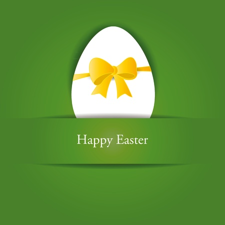 Creative, simple background on easter with egg