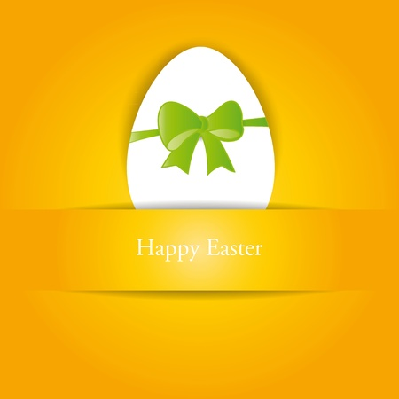 Creative, simple background on easter with egg Vector