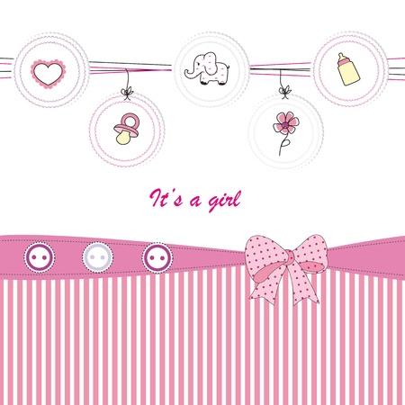 teteros: Fondo lindo beb� en el cumplea�os o la ducha Vectores