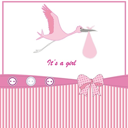 cigogne: Bébé fond mignon pour l'anniversaire ou douche