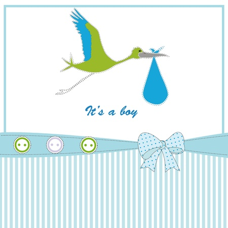 cigogne: B�b� fond mignon pour l'anniversaire ou douche